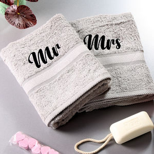 Mr And Mrs Bath Towels