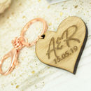 Personalised Wedding Rose Gold Keyring