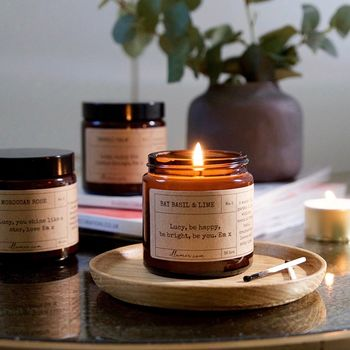 Personalised Note Candle Three Month Subscription