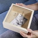 Personalised Anniversary Perspex Wooden Keepsake Box