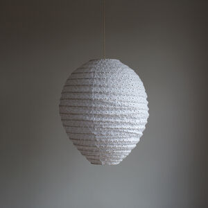 White Broderie Anglaise Hanging Lamp Shade