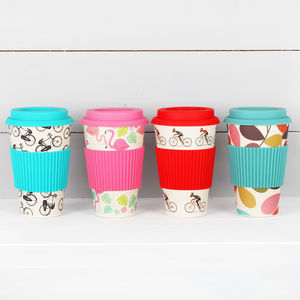 Bamboo Travel Cup, Various Designs - cups & saucers