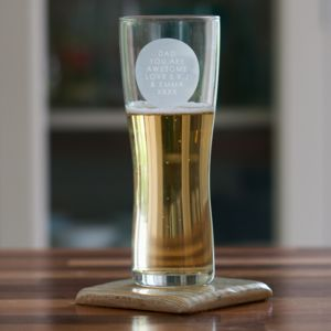 Personalised Pint Glass - kitchen