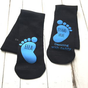 Dancing On Daddy's Feet Personalised Socks - underwear & socks