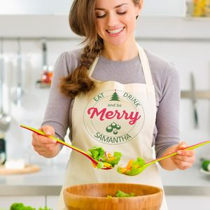 Personalised Christmas Cotton Apron