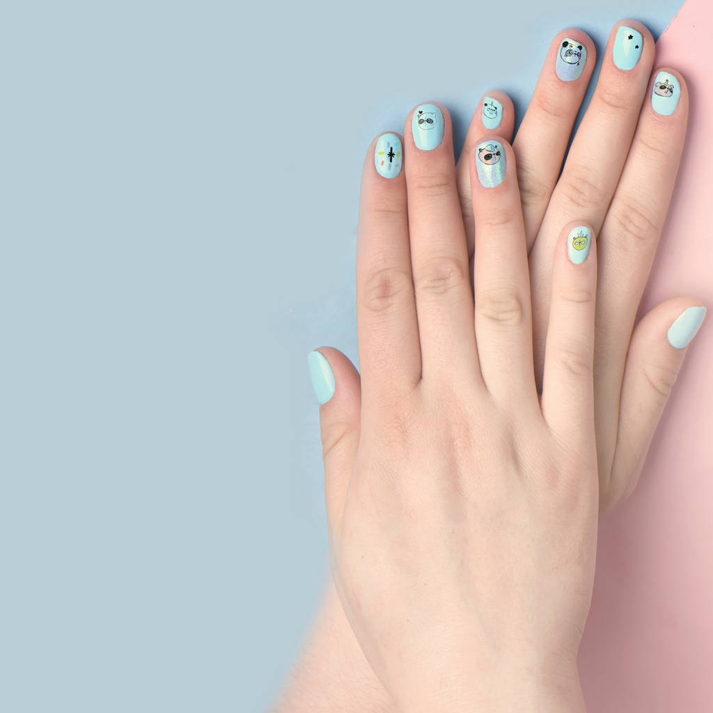 panda animal party nail art transfers by house of wonderland ...