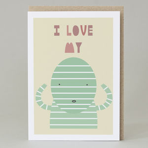 'I Love My Mummy' Card - funny cards