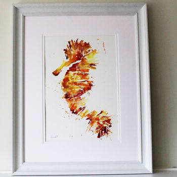 Painting, Golden Seahorse