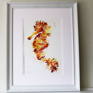 Painting, Golden Seahorse - paintings