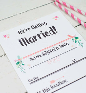 Script Wedding Day Invitations