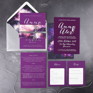 Celestial 'Starry Sky' Invitations - new in wedding styling
