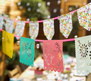 Floral Fiesta Mexicana Bunting - outdoor decorations