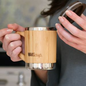 Reusable Sustainable Bamboo Mug With Lid