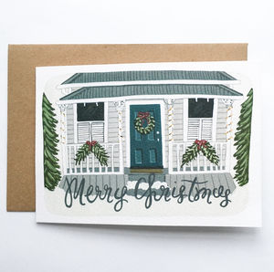 Hand Illustrated 'Merry Christmas' Greeting Card - christmas sale