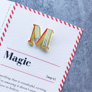 M Is For Magic Pin Badge And Card - what's new