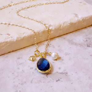 Kyanite Quartz Precious Gemstone Charm Necklace