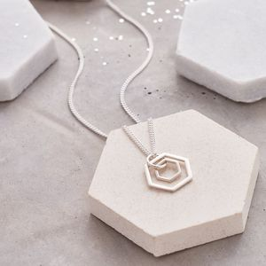 Double Hexagon Necklace - necklaces & pendants