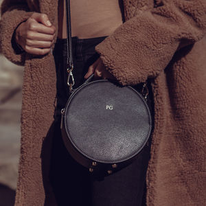 Personalised Leather Round Bag - gifts for her