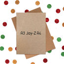 Funny Christmas Card: Wrapping Paper