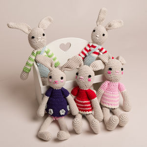 Hand Crochet Bunny Rabbit - soft toys & dolls