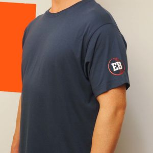 Cricket Ball On The Sleeve With A Monogram T Shirt