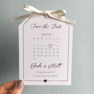 Gold Foil Save The Date Tag - wedding stationery
