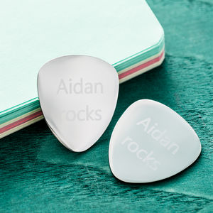 Personalised Guitar Plectrum - music