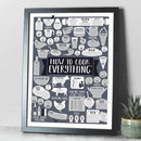 How To Cook Everything A2 Kitchen Print