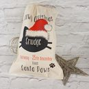 Personalised Christmas Sack For Cats