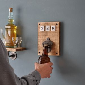Personalised Ceramic Bottle Opener - gifts for him
