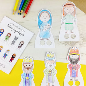 Make Your Own Nativity Finger Puppets
