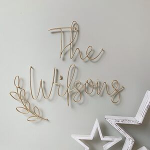 Family Name Sign Wire Words