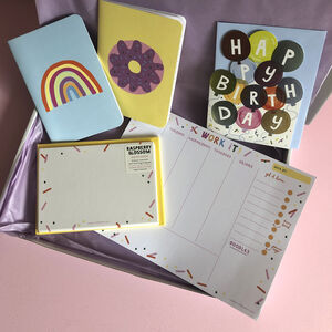 Colourful Confetti Stationery And Card Letterbox Gift