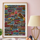 Royal Leamington Spa Typographic Print
