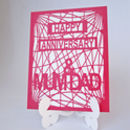 Personalised Stand Up Easel Die Cut Anniversary Card