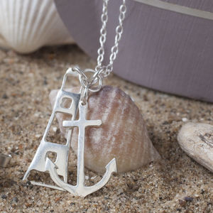 Lighthouse And Anchor Charm Necklace