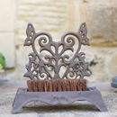 Cast Iron Botanical Boot Brush