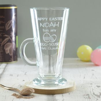 Easter Personalised Engraved Hot Chocolate Glass