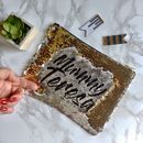 Personalised Sequin Reveal Make Up Bag