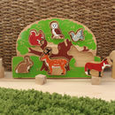 Wooden Countryside Shape Sorter Tray Puzzle