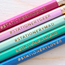 Stationery Hashtag Pencil Set
