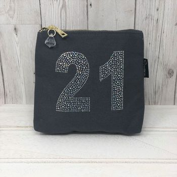 21st Personalised Sparkly Birthday Bag By Lovethelinks