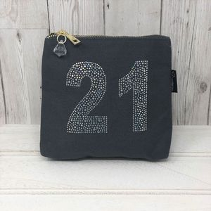 21st Personalised Sparkly Birthday Bag