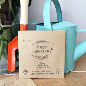 Personalised Father's Day Wildflower Seed Packet - father's day cards