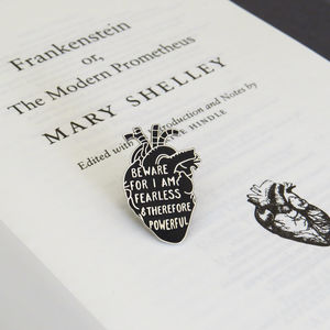 Frankenstein Anatomical Heart Enamel Pin