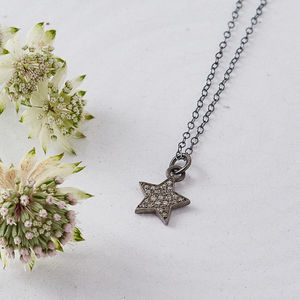 Pave Diamond Small Star Necklace - necklaces & pendants