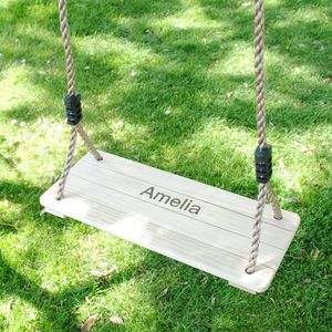 Kid's Personalised Wooden Swing