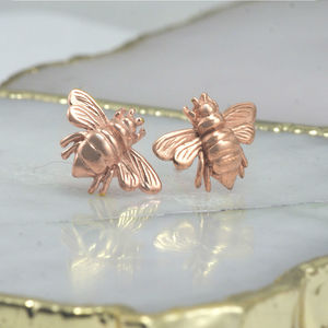 Bee Rose Stud Earrings