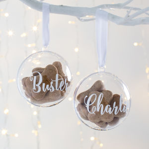 Personalised Pet Treat Bauble - tree decorations
