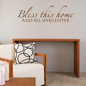Bless This Home Quote Wall Sticker